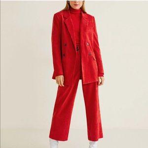 Mango red blazer